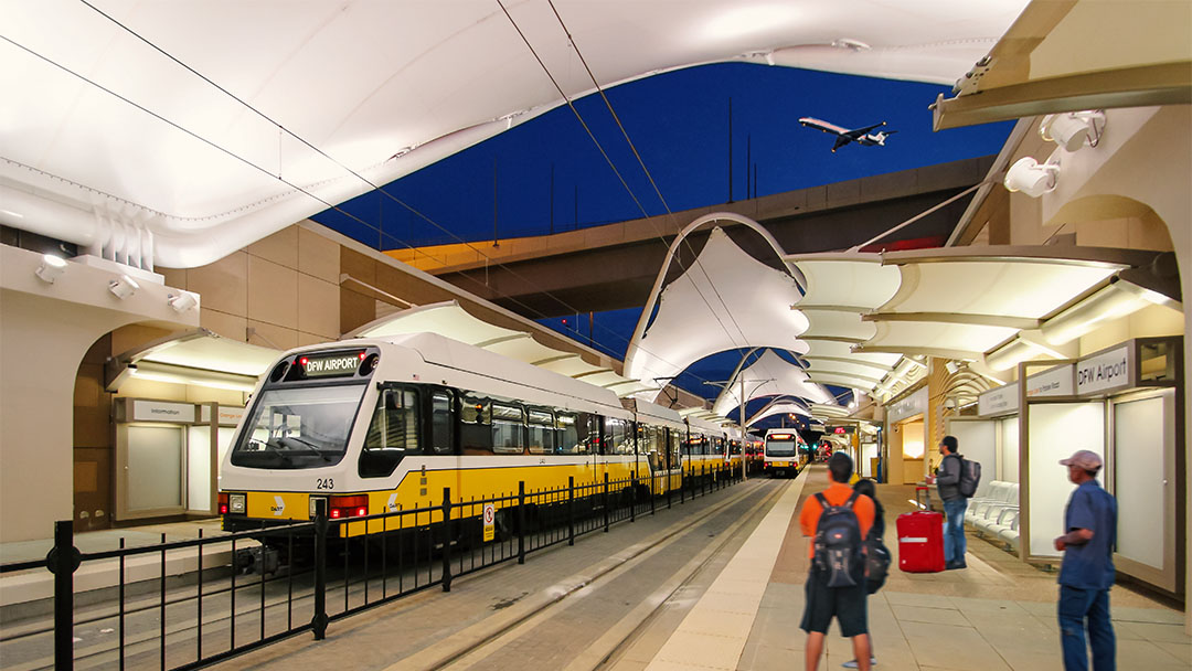 Light rail station Rapid Transit