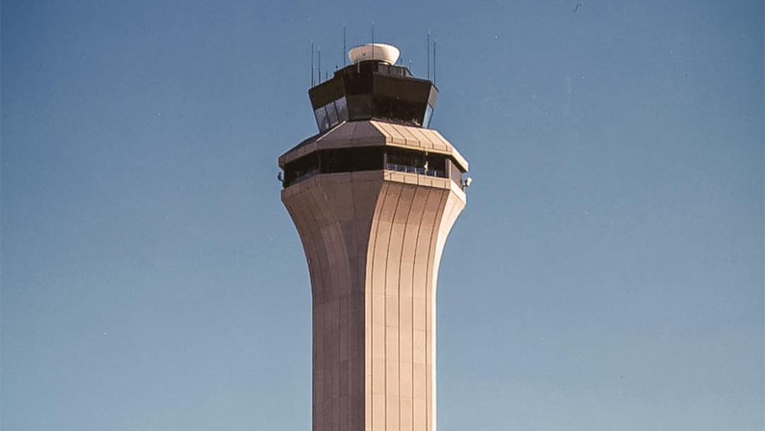 Air control tower international airport Denver