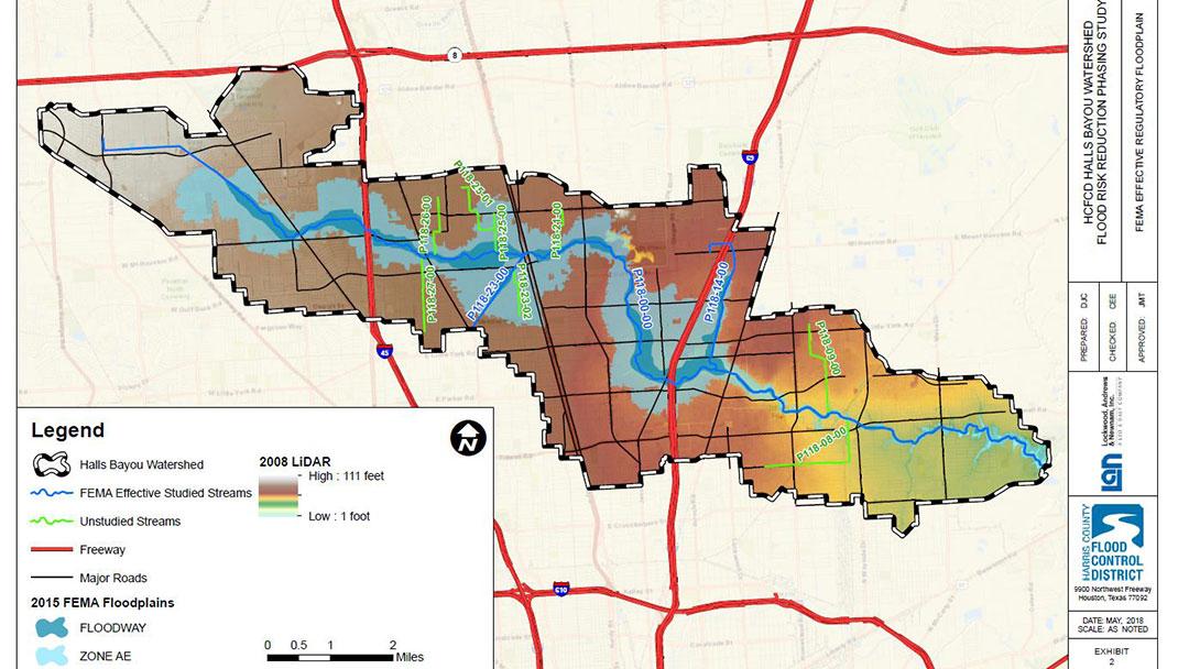 halls bayou map